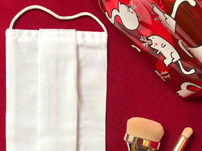 Маска тканевая многоразовая со складкой